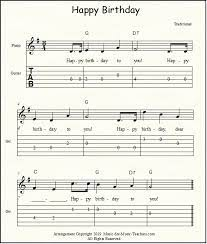 Happy birthday, with two new late elementary/ early intermediate arrangements perfect for … Happy Birthday Free Sheet Music For Guitar Piano Lead Instruments