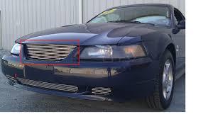 2002 Ford Mustang V6 Gt 1Pc Bumper Billet Grille Kit