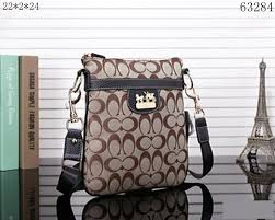 Coach Bleecker Monogram Small Khaki Crossbody Bags 10004