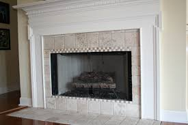 modern concept fireplace tile and original green ceramic tile replaced with tumbled