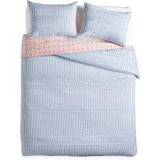 the pioneer woman ticking stripe duvet blue king size cover bedding 100 cotton