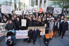 Women Form Human Chain Outside Trump Tower Pussy Came To Shut It.