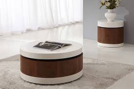 rolo round high gloss coffee table white high gloss side table