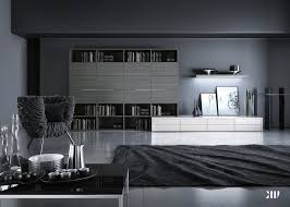 Black & White Interior Design  Black And White Grey Living Room Image