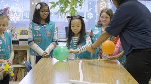 Balloon Car Design Challenge Girl Scouts Ge Engineers Provide Instructions To Earn The Junior Girl Scout Mechanical Engineering Badge