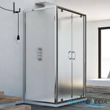 glass panel shower door awesome 3 sided shower cubicle enclosure 2 pivot doors saloon opening 6
