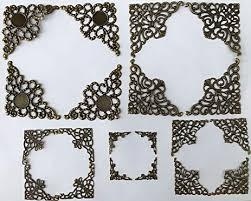 antique frame designs. Perfect Frame MINI Scrapbooking Embellishment Antique Bronze Shape Corner Frame Designs  Paper Filigree Metal Stamping Making Art Craft And