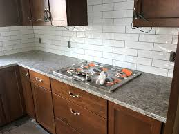 the gas cooktop is installed with the countertops