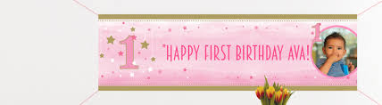 1st birthday banner 1st birthday banners personalised banners party pieces