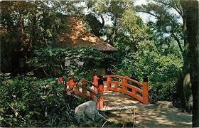 descanso gardens la canada california japanese tea garden farm house postcard hippostcard