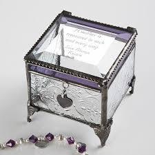 personalized vintage glass jewelry box with custom poem 3678