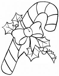 Small Picture Candy Cane Coloring Page Free