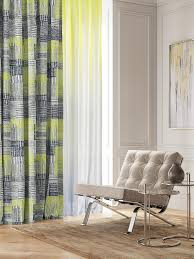 <b>Комплект штор Томдом</b> Плорони, зеленый, серый, желтый ...