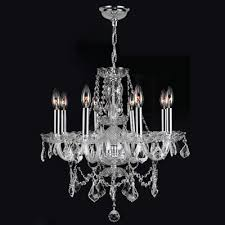 provence 8 light crystal chandelier crystal color clear