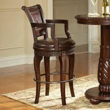 wood and leather bar stools ideas