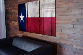 on texas star metal wall art with triptych texas state flag hanging rustic worn metal wall art