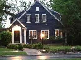 exterior paint ideas dark trim. navy blue house exterior, white trim, black door and shutters exterior paint ideas dark trim