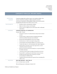 corporate legal resume template paralegal resume examples