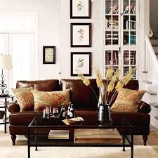 living room ideas leather furniture. white paint wall cube bookcase combine pottery barn living room ideas with brown leather sofa black glass coffee table cream rug area at awesome furniture w