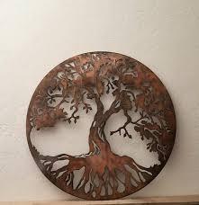 tree of life metal sign 2 ft metal wall