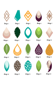 faux leather earrings bundle svg eps dxf png