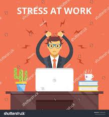 Creative Concepts Hair Design Stress Work Stress Situation Concept Man Stock Illustration