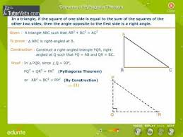 converse of the pythagorean theorem. converse of pythagoras theorem the pythagorean o