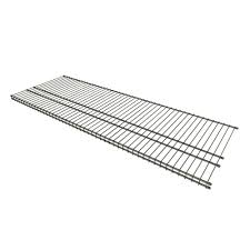 closetmaid 16 in d x 48 in w nickel steel ventilated wire shelf