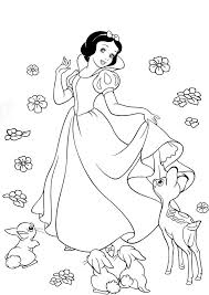 Beautiful Princess Snow White Coloring Book Disney Coloring Pages