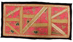 indian zari gota work vintage wall hanging patchwork table runner decor tapestry 1 of 4free