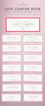 Love Coupon Love Coupon Book Printable Card By Indigoprintables