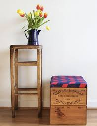 wine crate furniture. delighful crate 10 innovative ways to use wooden wine crates around your home ottoman in crate furniture