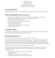 Cover Letter For Entry Level Financial Analyst Sample Financial Analyst Resume Entry Level For Examples Imag Yomm