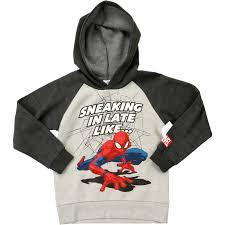spider man boys hoo grey