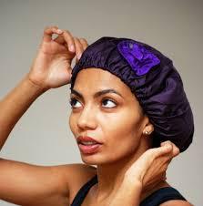 Image result for satin bonnets for natural hair