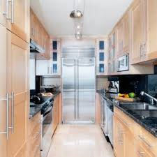 lighting for galley kitchen. Galley Kitchen Track Lighting Over Small With Floor To Ceiling Cabinet For L