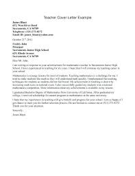 Teachers Cover Letter Sample Middle School Teacher Cover Letter