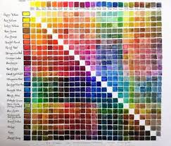 24 Watercolor Mixing Chart Shinhan Swc And M Graham In