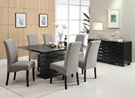 tall dining room sets. Stanton Contemporary 7-Pc Black And Gray Dining Table Set By Coaster Tall Room Sets