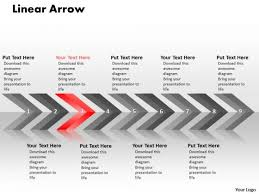 Sales Powerpoint Template Linear Arrows 9 Stages Project Management