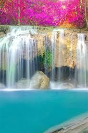 wallpaper beautiful waterfall trees