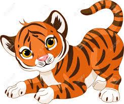 Illustration Of Playful Tiger Cub Royalty