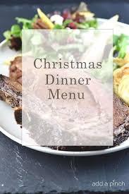 Make Ahead Christmas Dinner Menu - Add a Pinch