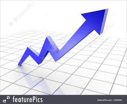 Chart Business Abstract Forms Business Graph 3d Rendered Conceptual Arrow Chart On Grid