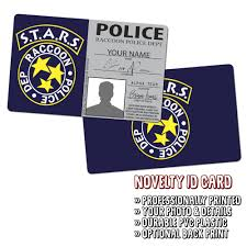 - Police Stars Raccoon City Novelty Id