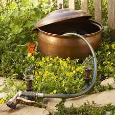 garden hose pot with lid. Hammered Hose Pot With Lid Garden