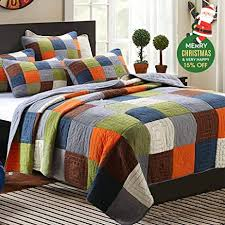 cotton quilts queen size. Brilliant Quilts 3 Pieces 100 Cotton Quilts Queen Size Floral Patchwork Bedspread Sets  Reversible Multi To E