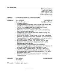 home health care resume. resume templates healthcare system administrator health care aide