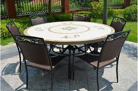 160cm round outdoor garden marble mosaic dining table luxor view full size