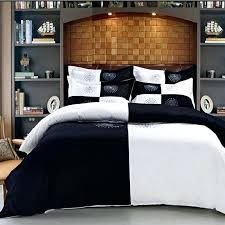 black and silver super king size bedding white hotel duvet cover queen embroidered solid color set
